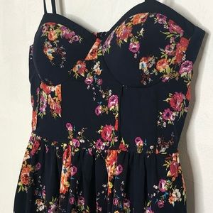 Band of Gypsies Dresses - Band of Gypsies navy floral bustier dress - 448